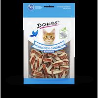 201714 DOKAS Chicken sandwich with fish 70g (Cat)