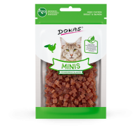 204111 DOKAS Minis chicken breast & salmon 30g (Cat)