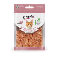 204623 DOKAS  Chicken & Cod mini steaks 25g (Cat)